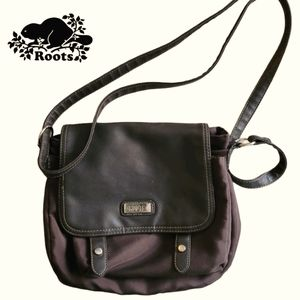 Roots crossbody with leather flap